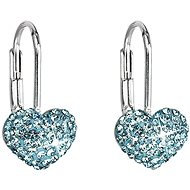 Aqua Earrings Decorated Swarovski Crystals 31125.3 (925/1000; 1.4 g)