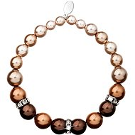 Brown perlový náramek 33016.3