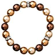 Brown perlový náramek 33061.3
