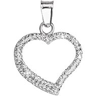 Crystal Pendant Heart Decorated Crystals Swarovski 34093.1 (925/1000; 0.2 g)