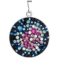 Galaxy Pendant Decorated Swarovski Crystals 34131.4 (925/1000; 4.8 g) - Charm