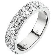 Prsten dekorovaný krystaly Swarovski Krystal 35001.1 (925/1000; 3 g) vel. 58 - Prsten