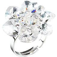 Prsten dekorovaný krystaly Swarovski Krystal 35012.1 (925/1000; 6,6 g) vel. 53-60