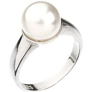 Prsten dekorovaný krystaly Swarovski Bílá perla 35022.1 (925/1000; 5,1 g) vel. 58 - Prsten