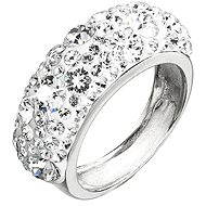 Prsten dekorovaný krystaly Swarovski Krystal 35031.1 (925/1000; 4,1 g) vel. 52