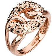 Ring verziert mit Swarovski-Kristallen 35.035,5 Gold Rose - Ring