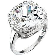 Prsten dekorovaný krystaly Swarovski Krystal 35037.1 (925/1000; 5 g) vel. 52