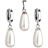 Weiße Perle Satz verziert Swarovski (925/1000; 6,2 g) - Trendy Geschenkset