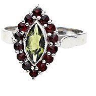 CZECH Granát 12026145025. (925/1000; 2,80 g) Größe 52 - Ring