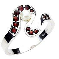 ČESKÝ GRANÁT 12100745011 (925/1000; 3,40 g) vel. 58 - Prsten
