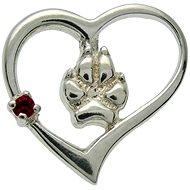 Silver Paws Srdce - psie labka (925/1000; 1,52 g)