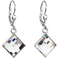 Krystal náušnice dekorované krystaly Swarovski 31158.1 (925/1000; 3,4 g)