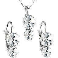 Crystal jewelery set made with Swarovski crystals 59003.1