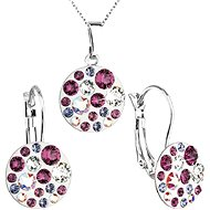 Amethyst jewelery set made with Swarovski crystals 59005.3