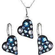 Metallic blue jewelery set made with Swarovski crystals 59010.5