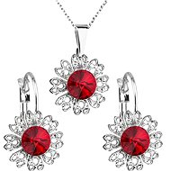 Siam jewelery set made with Swarovski crystals 59011.3