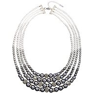 Grey pearl necklace 32010.3