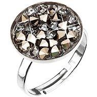 Metalic light gold prsten vyrobený s krystaly Swarovski® 35033.5