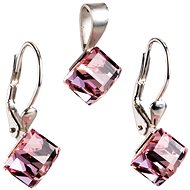 Light rose set made with Swarovski® crystals 39068.3