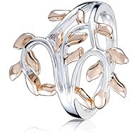 Prsten stříbrný, lístky (925/1000, 3,4 g) - Ring