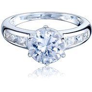 Prsten stříbrný, se zirkonem (925/1000, 3,6-3,9 g), bílá - Prsten
