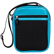 Pixel shoulder bag 18 blue