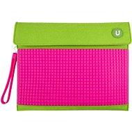 Pixelové pouzdro na tablet zeleno-růžové 10
