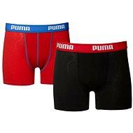 Puma Basic-Boxer 2P rot-blau-schwarz 164
