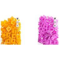 Pixely velké set, růžová-žlutá