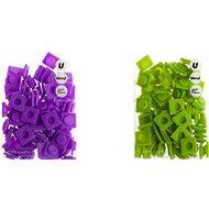Pixels large set, violet-green