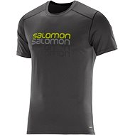 Salomon Cosmic logo SS TEE Galet Grey L