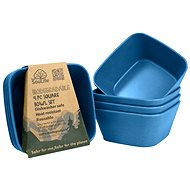 Biodegradable Square bowl navy