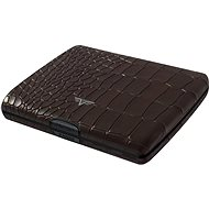 Tru Virtu Papers & Cards Ray leather - Croco Brown - Brieftasche