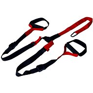 Hanging booster straps black-red