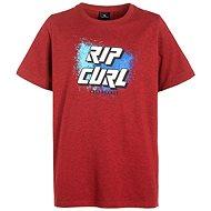 Rip Curl SLANT LOGO SS TEE Pompeian Red Ma 14 - Tričko