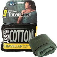 Sea to Summit Cotton Travel Liner - Traveller Pillow with green Eucaliptus