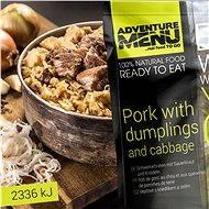AdventureMenu - Schweinefleisch mit Kartoffelstäbchen und Kraut