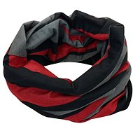 Fleece scarf with black and red