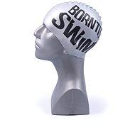 Born To Swim silver with black logo