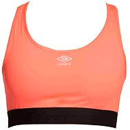Umbro Frauen Crop Top Fiery Coral / Schwarz vel. L