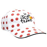 Tour de France with white polka dots