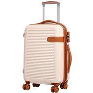 Rock Valiant TR-0159/3-S ABS - krémová - Cestovní kufr