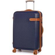 Rock Valiant TR-0159/3-L ABS - modrá - Cestovní kufr s TSA zámkem