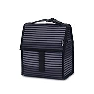 PackIt Lunch Bag pruhovaný šedý - Tasche
