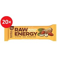 BOMBUS Raw energy -Peanut+dates 50g 20ks - Raw tyčinka