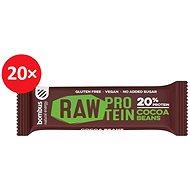 BOMBUS Raw protein-Cocoa beans50g 20ks - Raw tyčinka