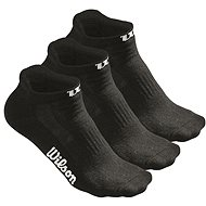 Wilson W Black NO SHOW Sock 3PR/PK