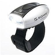 Sigma Micro strieborná/predné svetlo LED-biela - Svetlo na bicykel