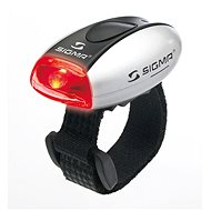 Sigma Micro strieborná/zadné svetlo LED-červená - Svetlo na bicykel