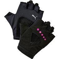 Puma Gym Gloves Puma Black-Ultra Magenta vel. M - Rukavice